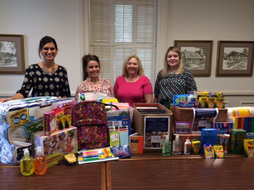 First State Bank School Supply Drive