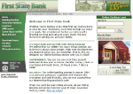 First State Bank Website Homepage 2003